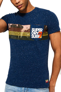 SuperDry Snowy-French-Navy No.7 Surf Pocket T-Shirt