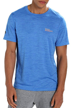 SuperDry Summer-Blue Micro Space-Dye Training T-Shirt