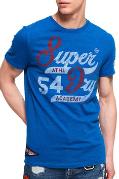 SuperDry Techno-Blue-Marl 54 Academy T-Shirt