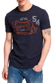 SuperDry Techno-Navy-Marl Academy Athletic T-Shirt