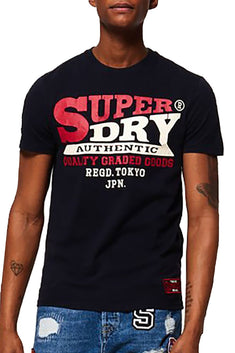 SuperDry Upstate-Black Authentic Supply T-Shirt