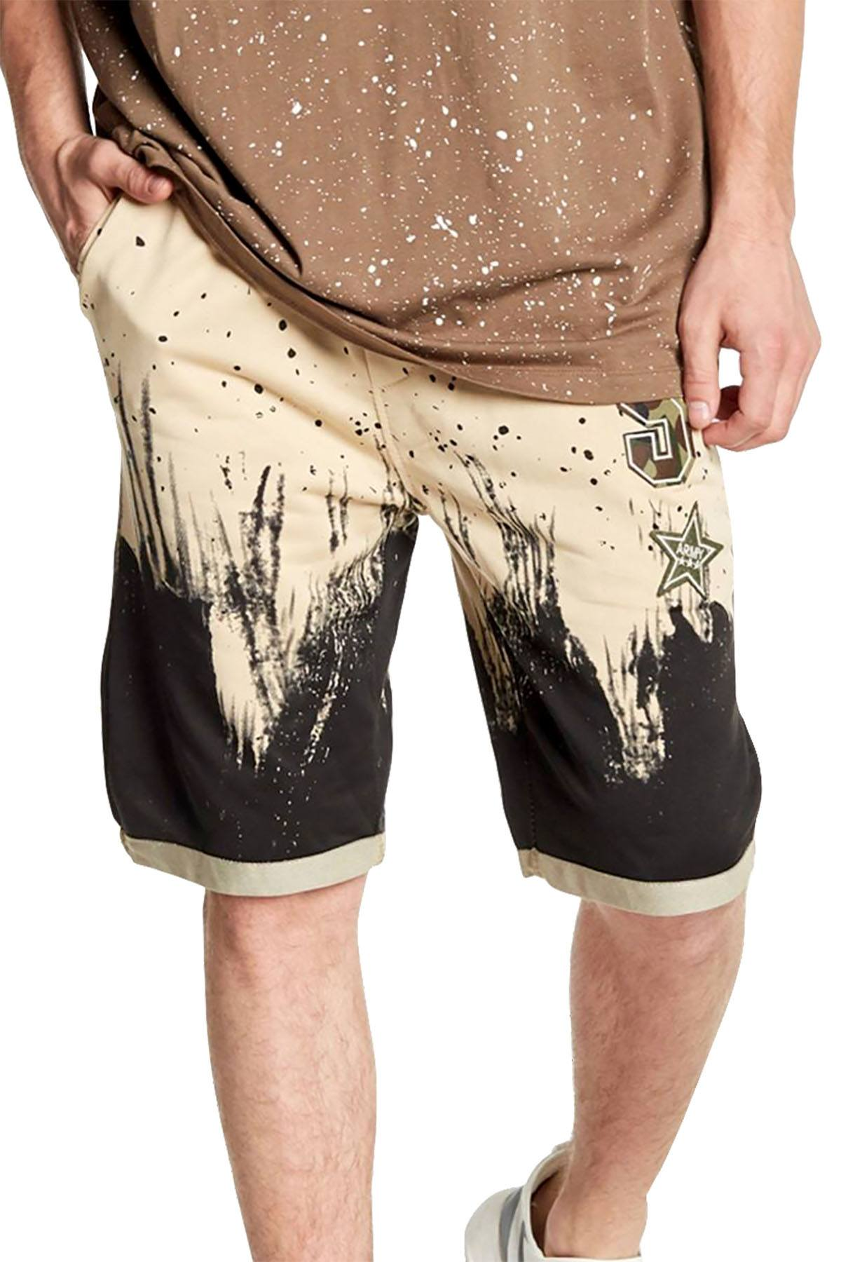Tailored Recreation Premium Beige Splatter Patch Short