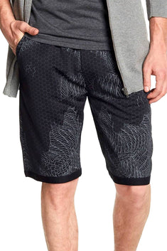 Tailored Recreation Premium Black Geometric Honeycomb Short