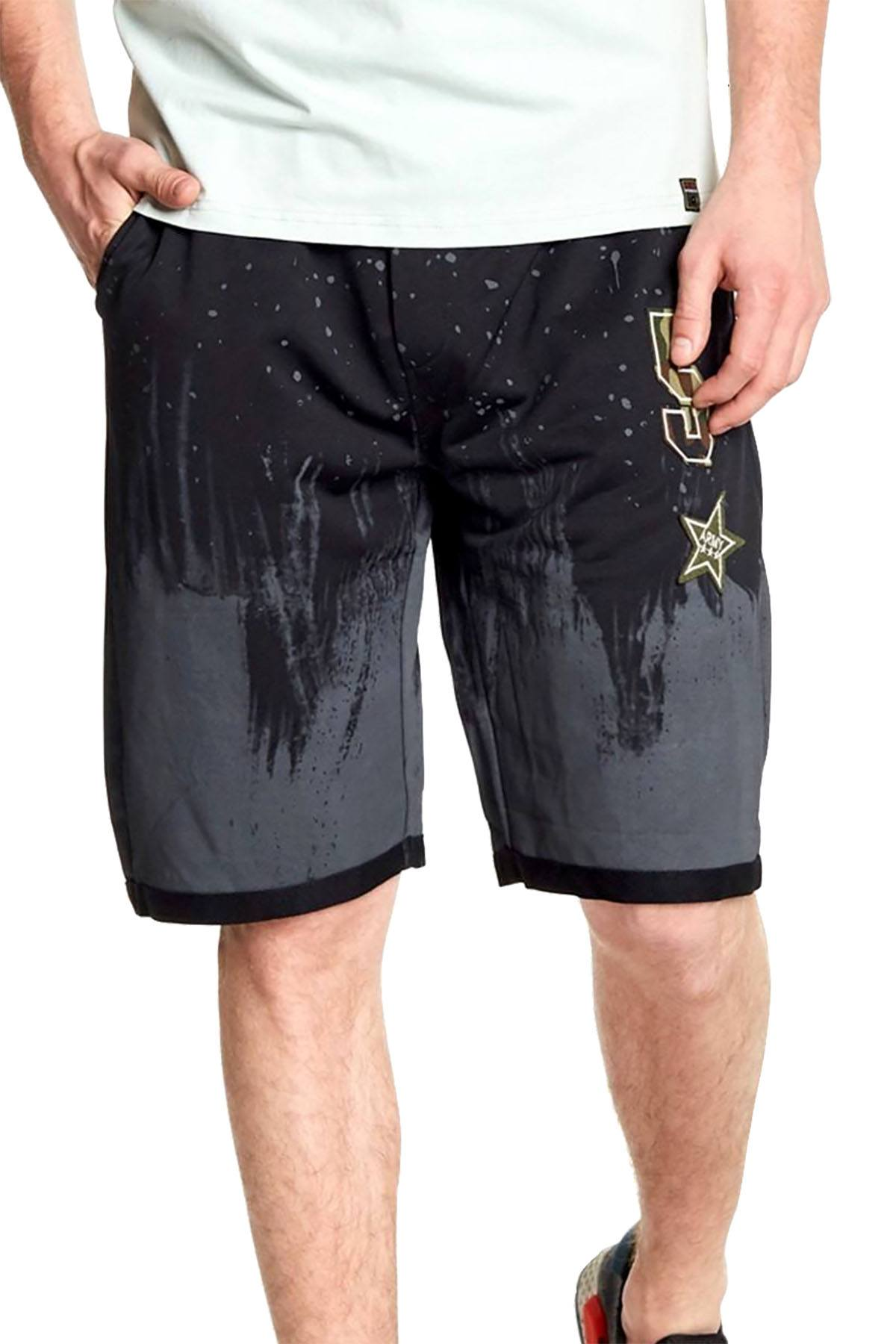 Tailored Recreation Premium Black Splatter-Paint Patch Short