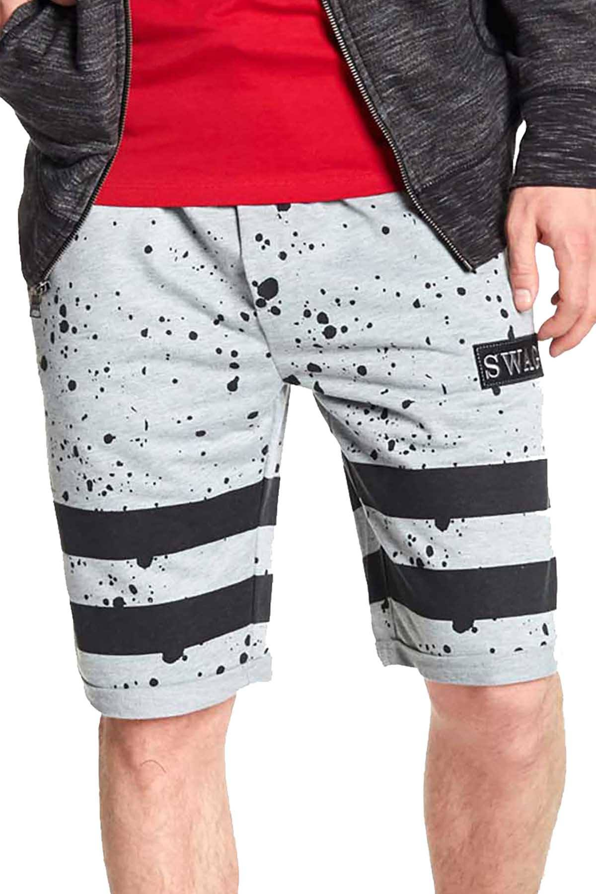 Tailored Recreation Premium Grey Splatter Striped Short