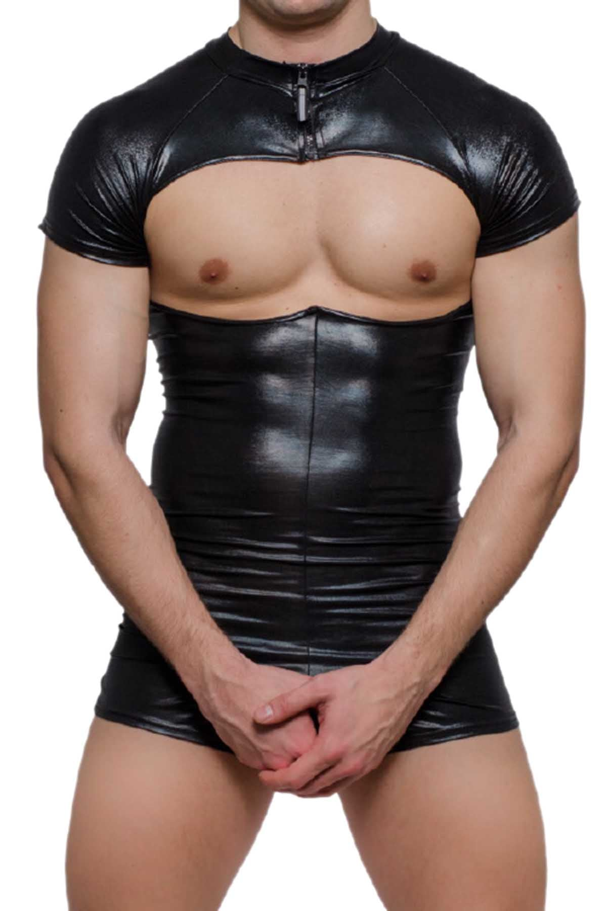 Tartarus Black Coated Bodysuit