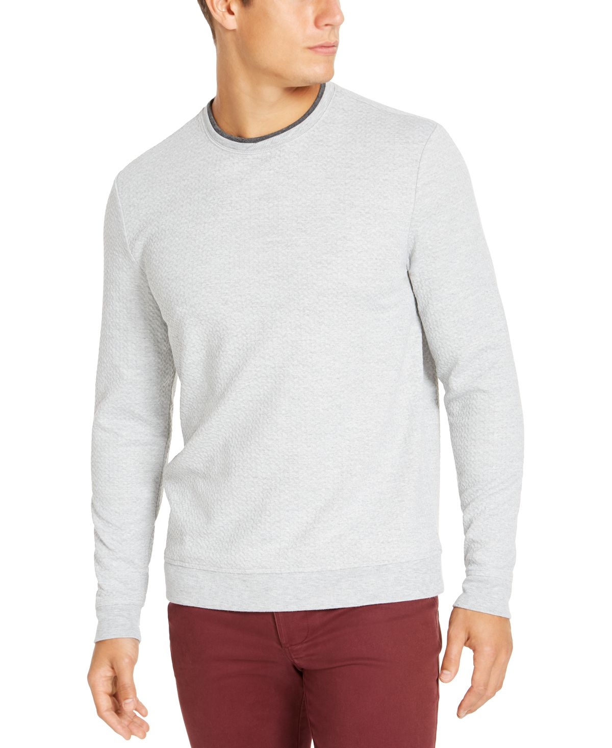Tasso Elba Crossover Sweater Sterling Heather