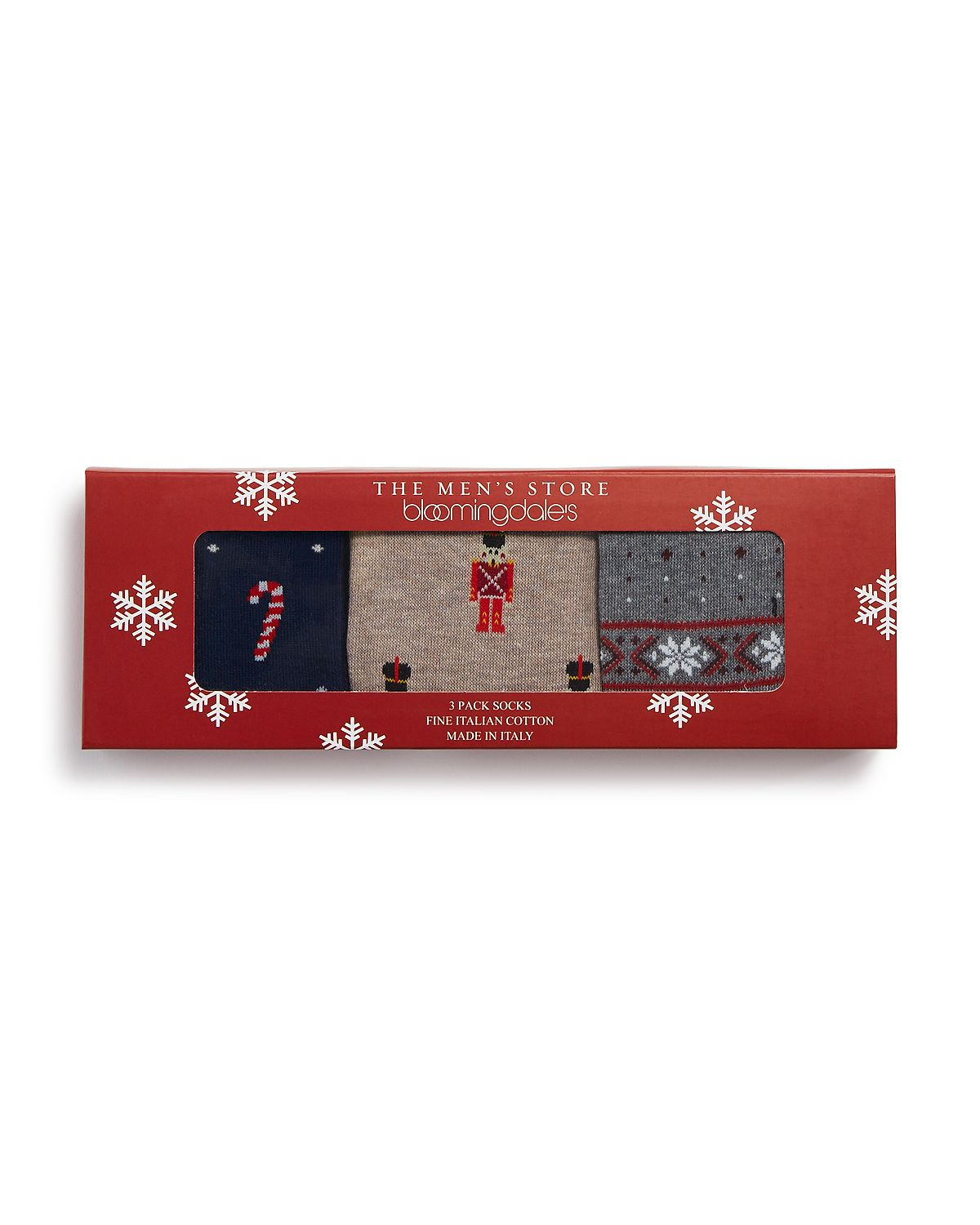 The Men's Store Holiday Socks Gift Box Pack Of 3 Multi