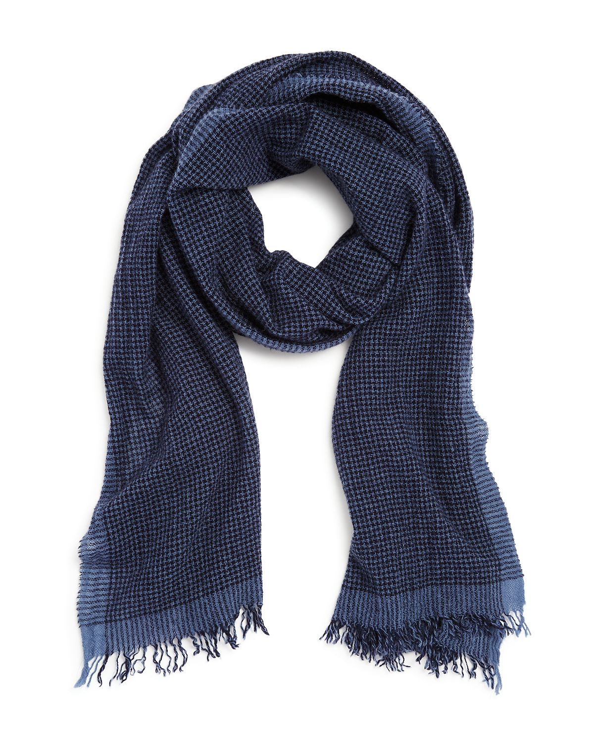 The Men's Store Mini-houndstooth Scarf Navy Blue