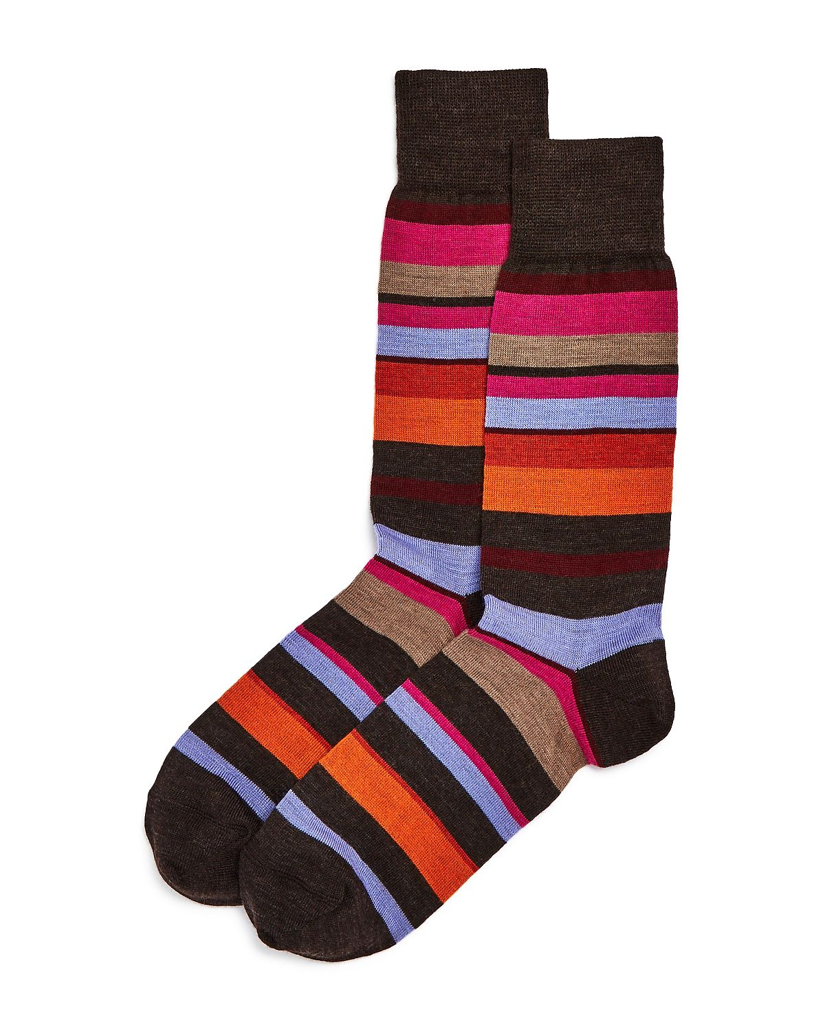 The Men's Store Multi Stripe Socks Brown