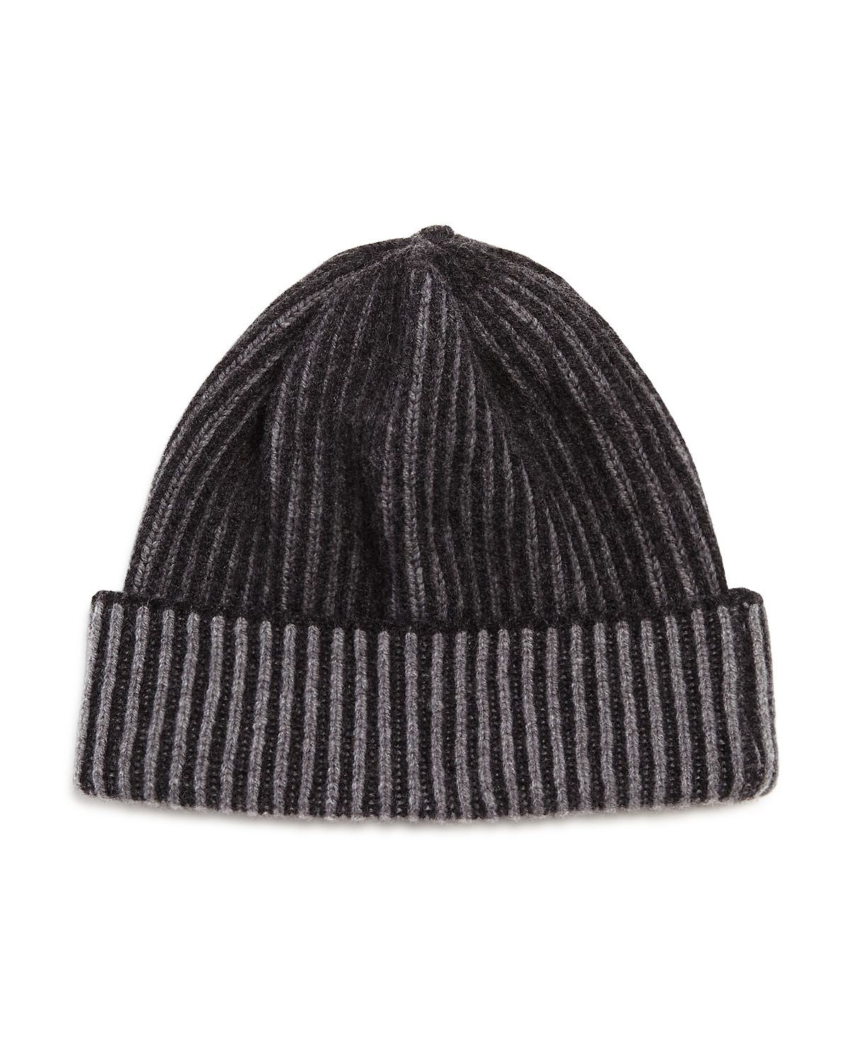 The Men's Store Ribbed Knit Hat Charcoal