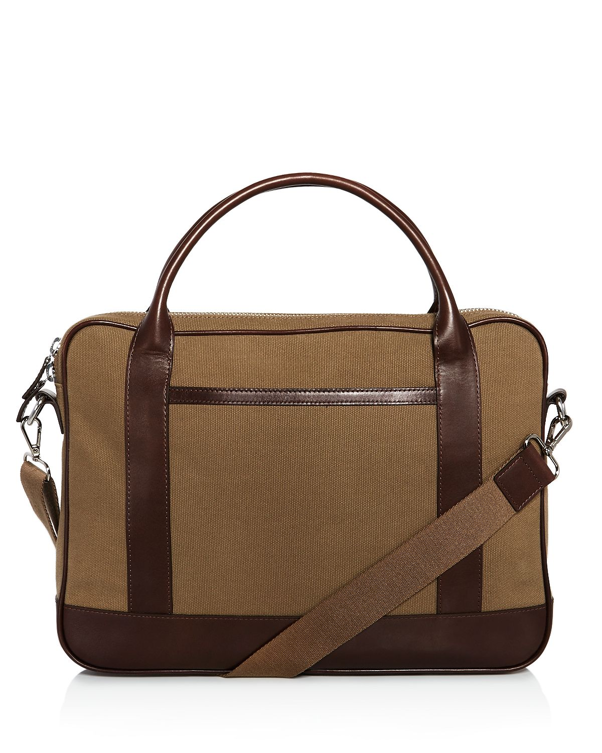 The Men's Store Slim Briefcase Khaki