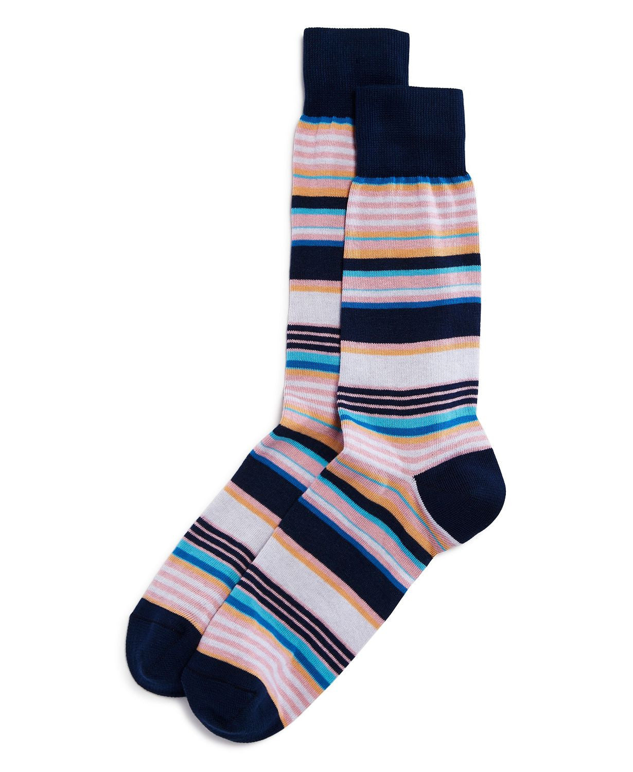 The Men's Store Striped Socks Navy
