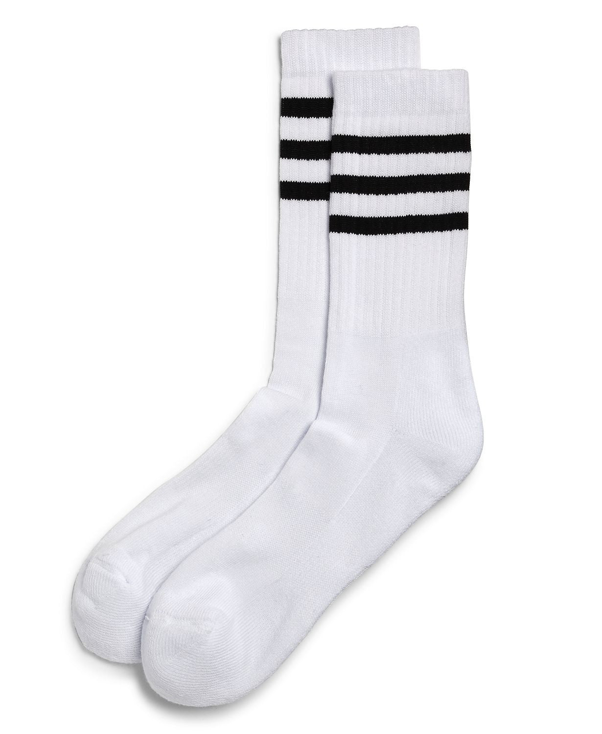 The Men's Store  Striped Tube Socks White/black