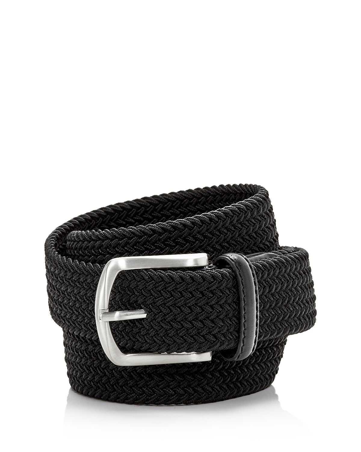 The Men's Store The Men's's Store At Woven Stretch Belt Black