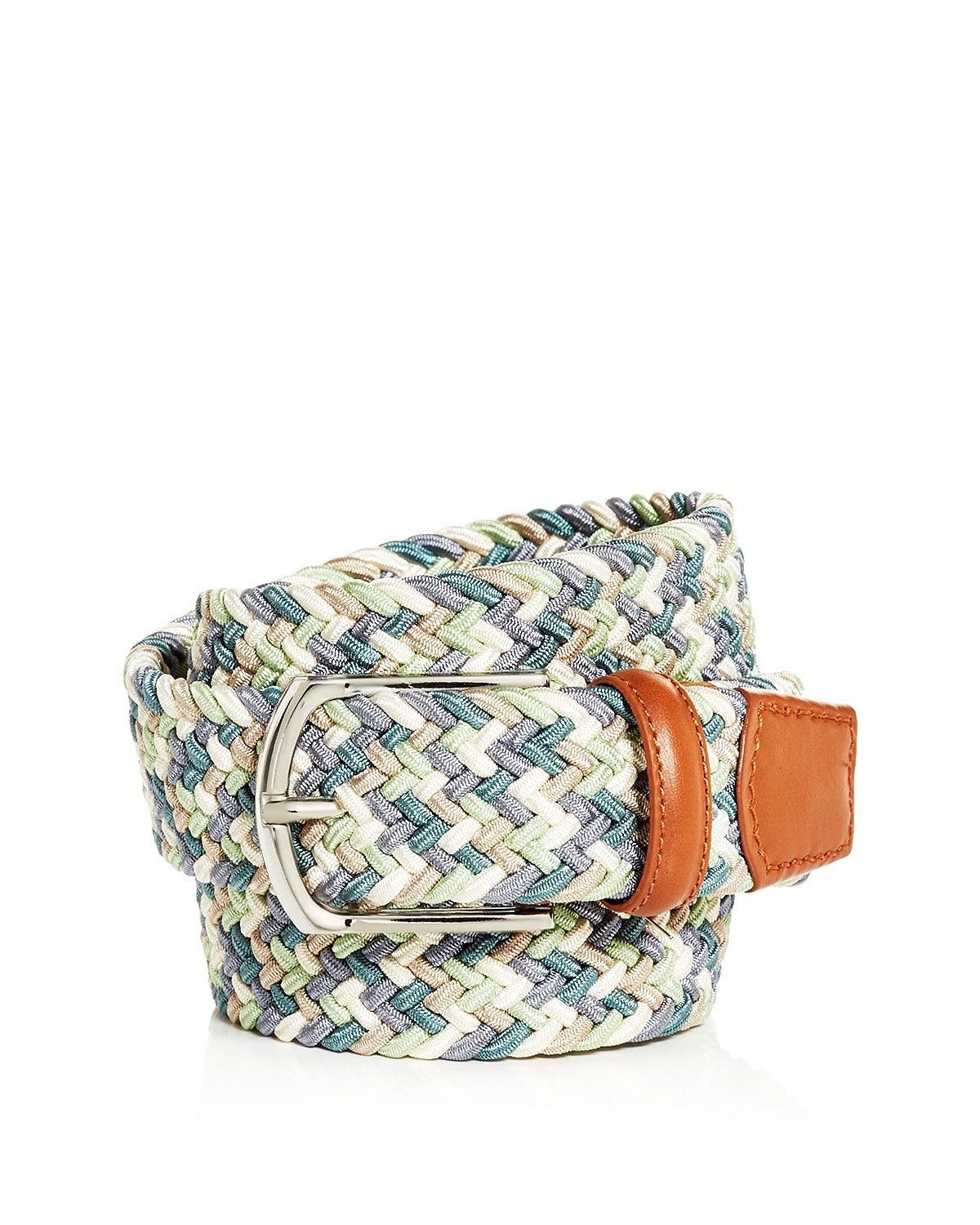 The Men's Store Woven Stretch Belt Blue