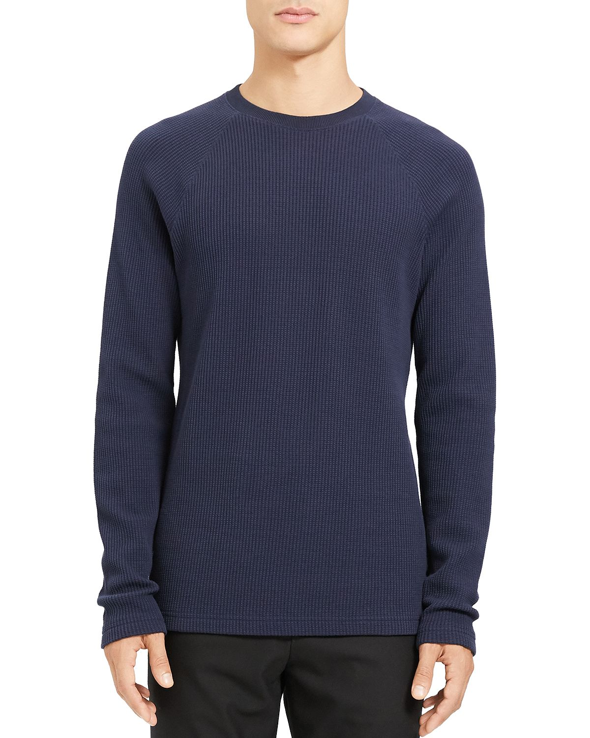 Theory River Waffle Knit Organic Cotton Sweater Eclipse