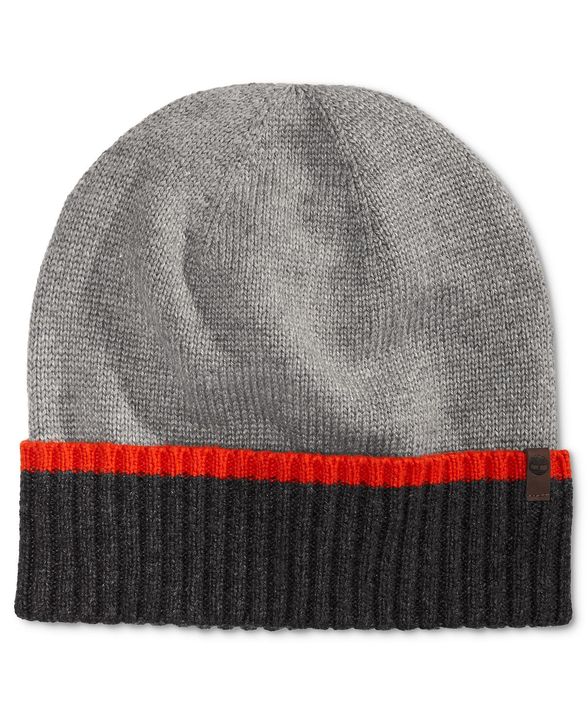 Timberland Colorblocked Cuffed Hat Gray