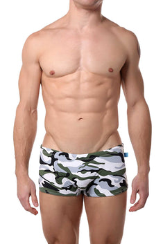 Timoteo Camouflage Open-Water Swim Trunk
