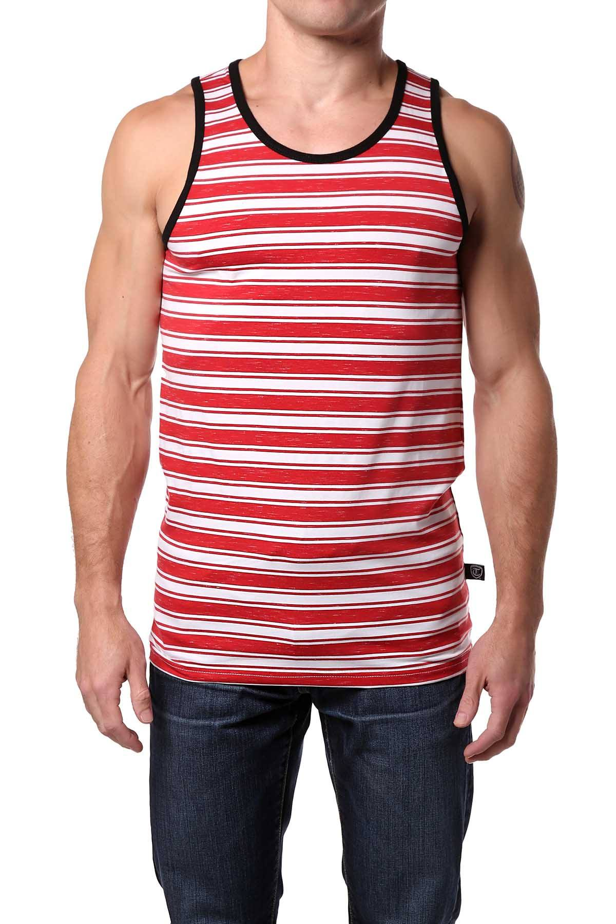Timoteo Red Striped Oceanside Tank