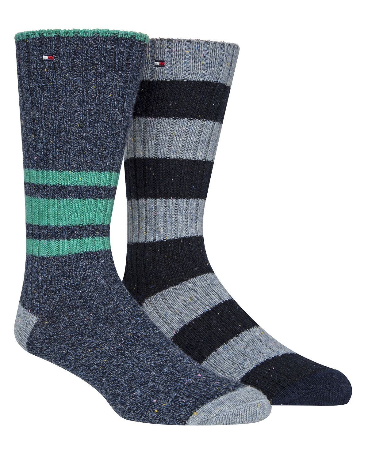 Tommy Hilfiger 2-pk. Striped Boot Socks Denim Heather