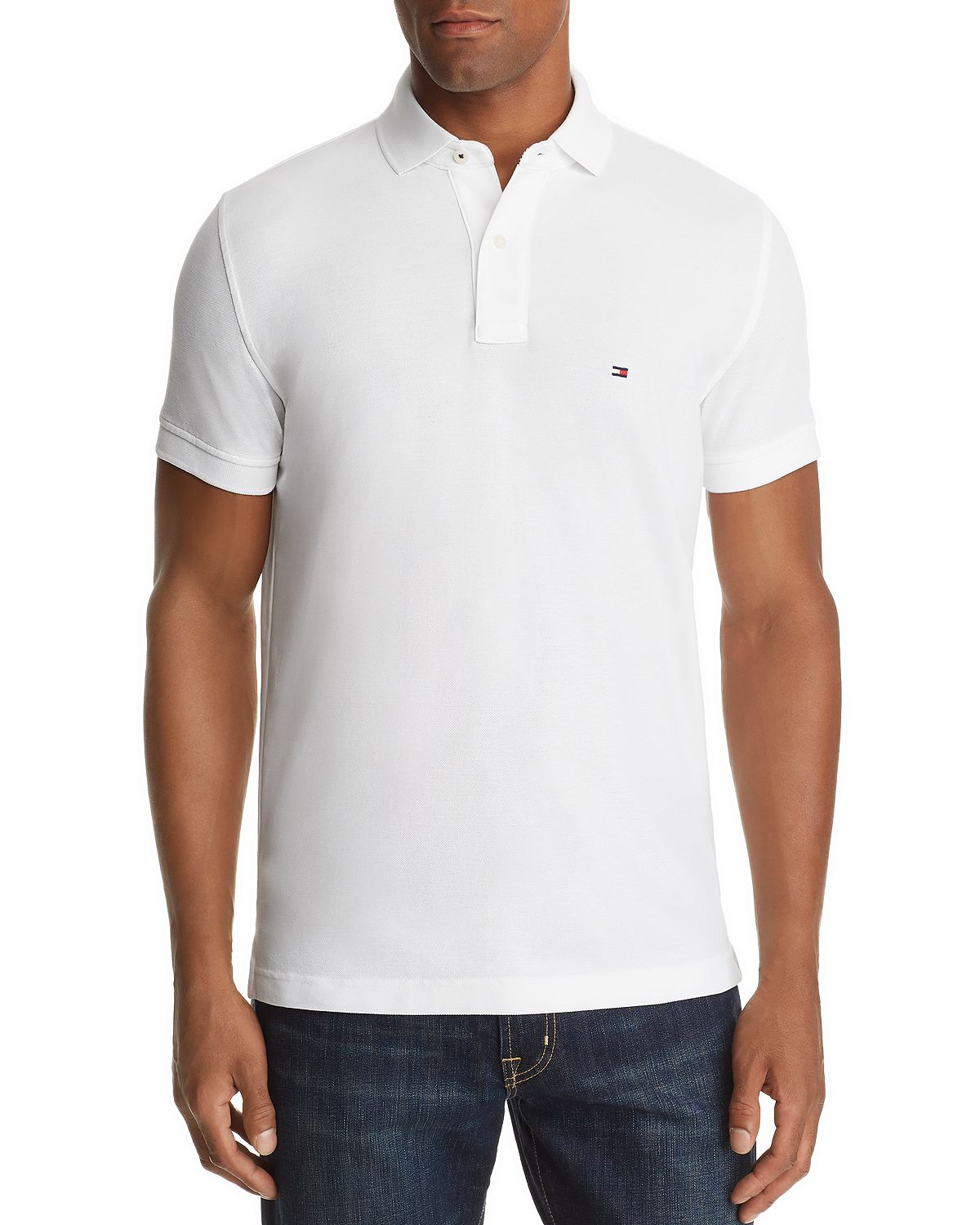 Tommy Hilfiger Core Slim Fit Polo Shirt Classic White