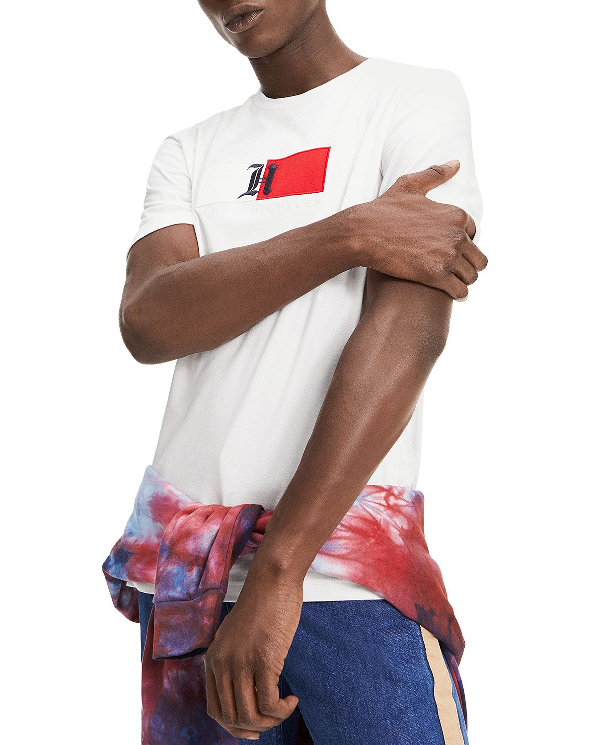 Tommy Hilfiger Flag Graphic Logo Tee Snow White