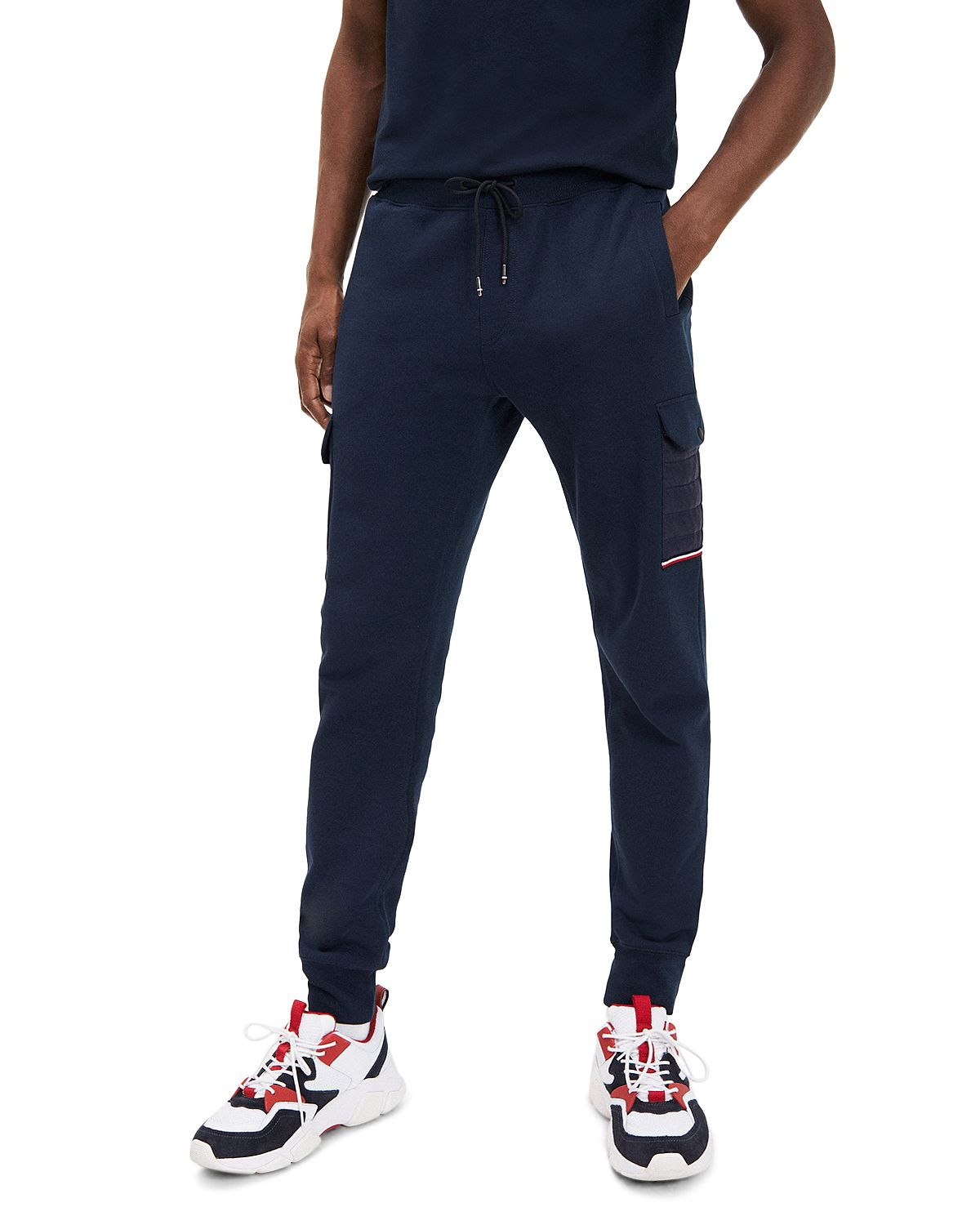 Tommy Hilfiger Mixed Media Jogger Pants Sky Captain
