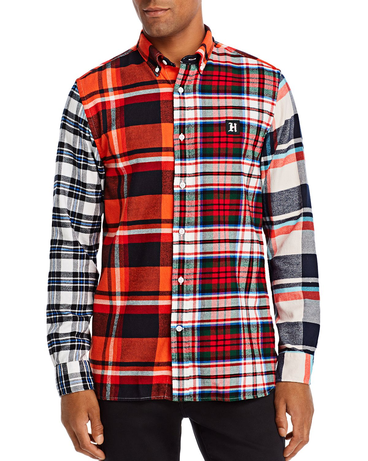 Tommy Hilfiger Multi-check Regular Fit Button-down Shirt Fiesta / Jet Black / Multi