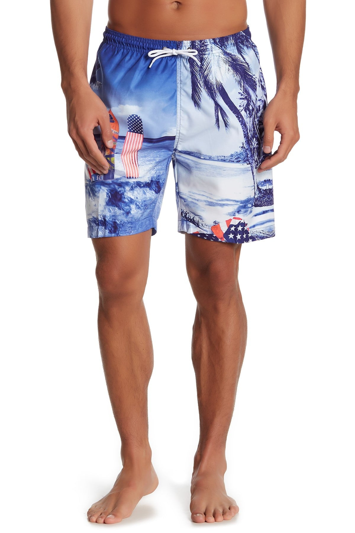 Trunks Surf and Swim CO. Printed Tropical Swim Shorts