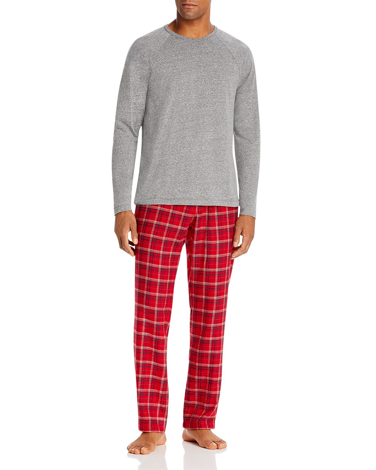 Ugg steiner Pajama Gift Set Gray/Red Plaid