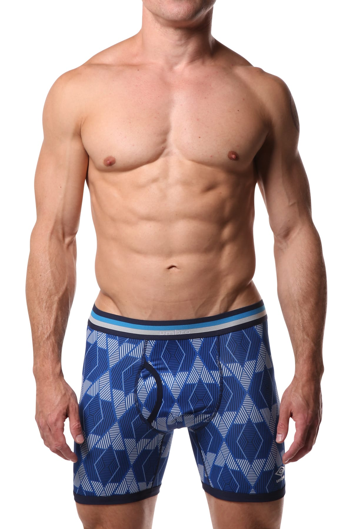 Umbro Blue Triangle Diamond Performance Boxer Brief