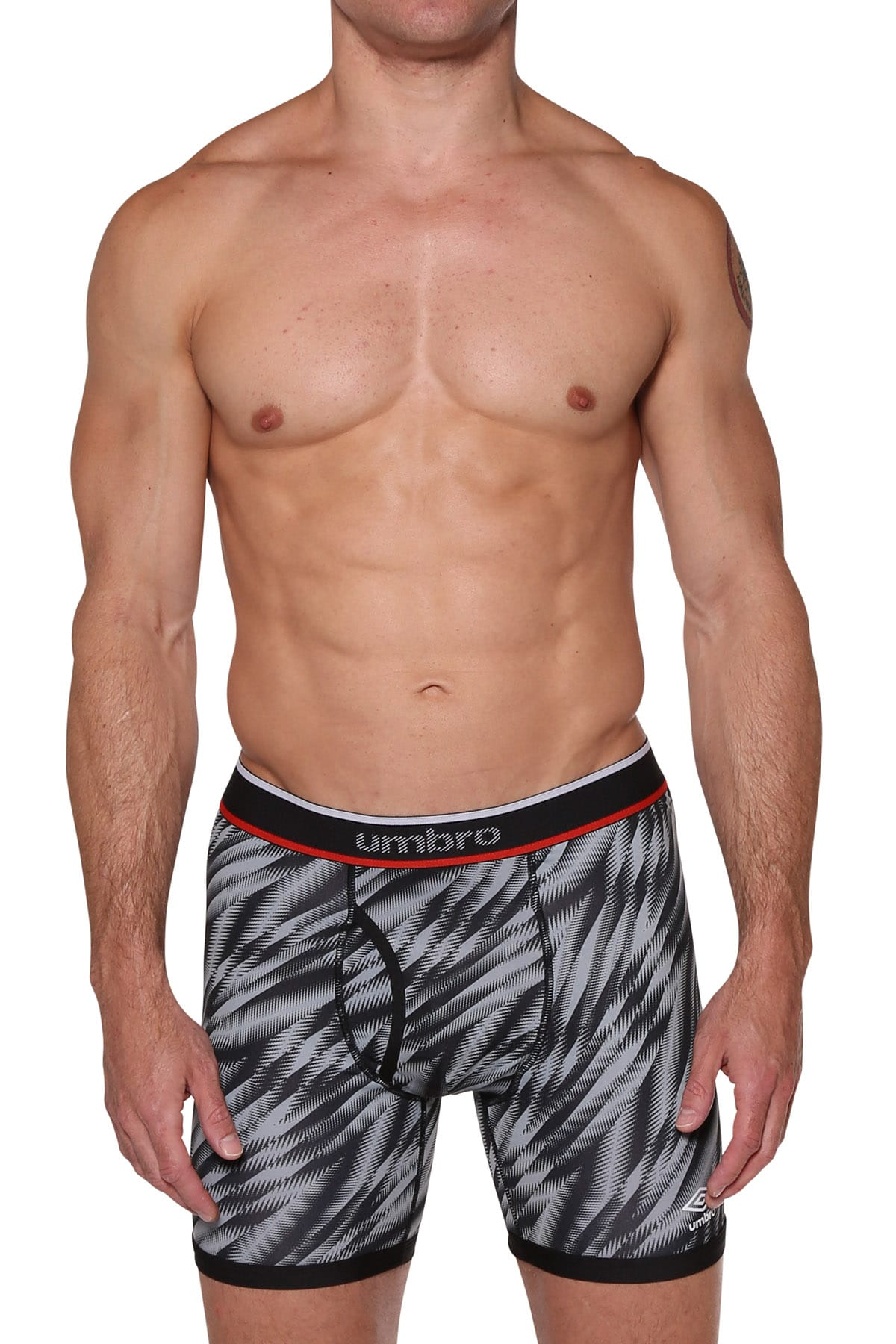 Umbro Charcoal/LightGrey Performance Boxer Brief