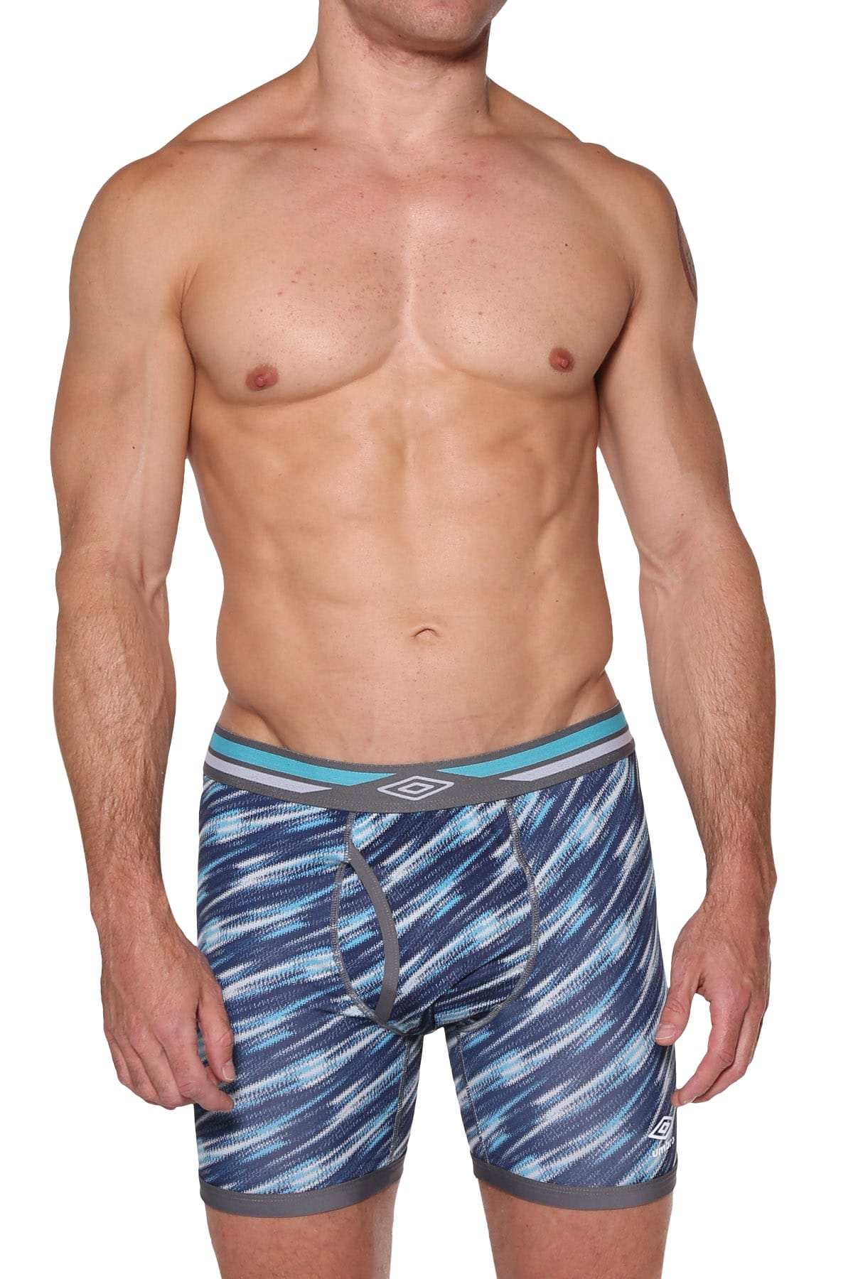 Umbro Navy/Turquoise/Grey Performance Boxer Brief
