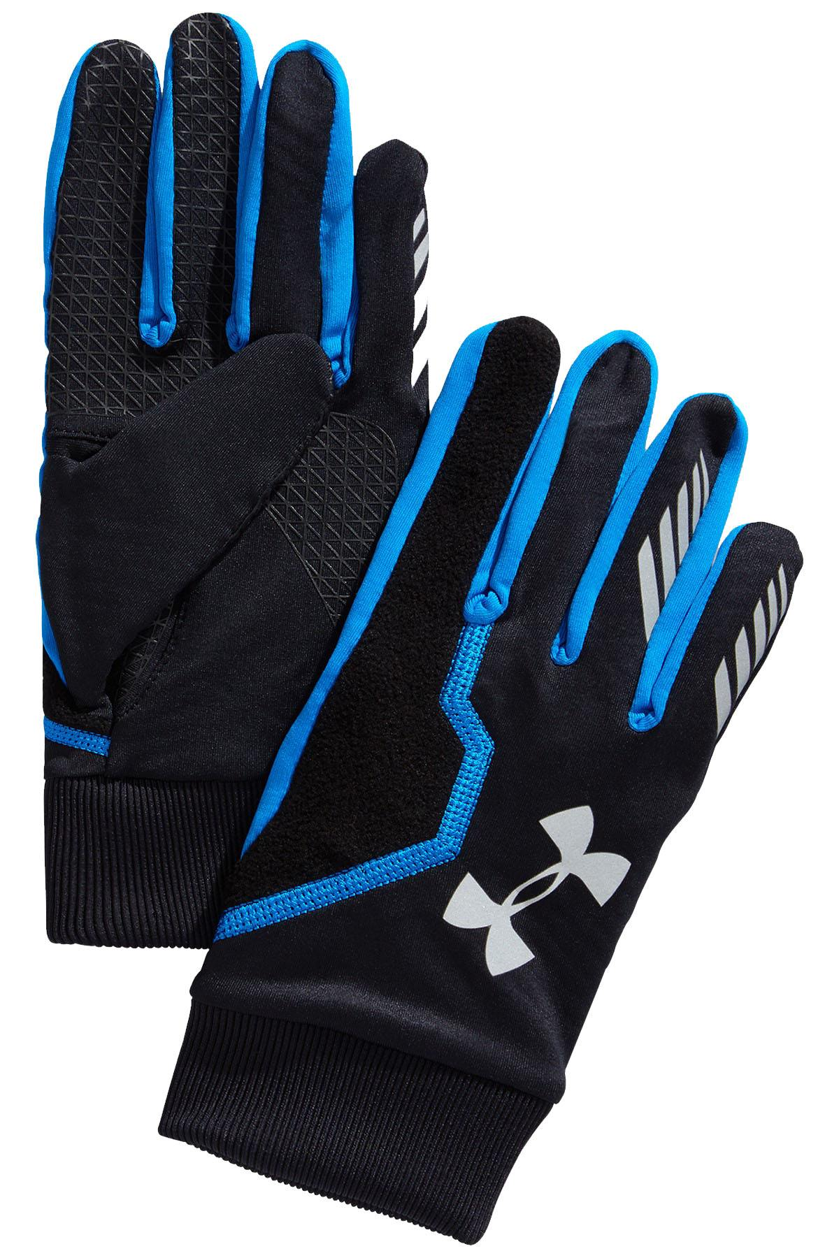 Under Armour Blue/Black ENGAGE ColdGear Infrared Touchscreen Running Gloves