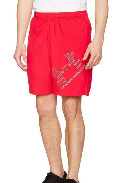 "Under Armour Red/Graphite 8"" Logo Performance Short - CheapUndies.com"