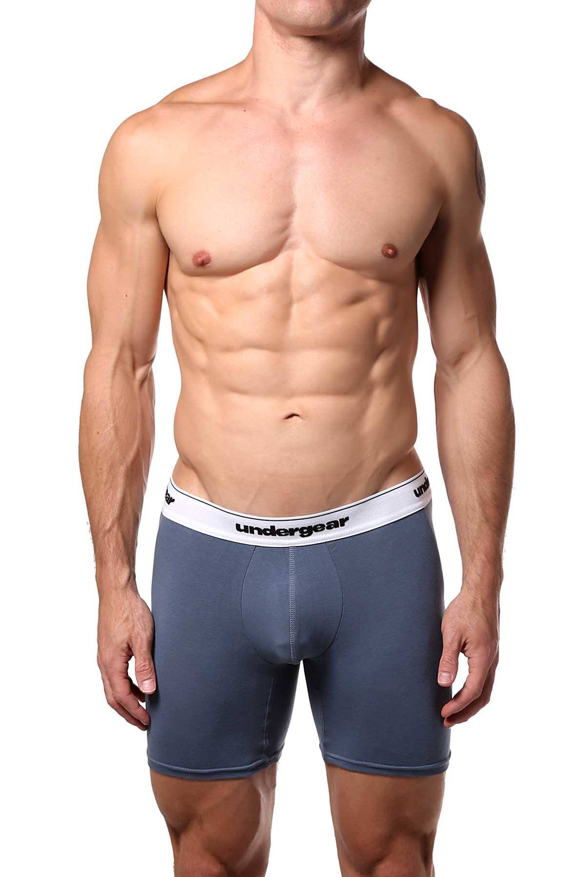 Undergear Grey Stitch Essential Boxer Brief