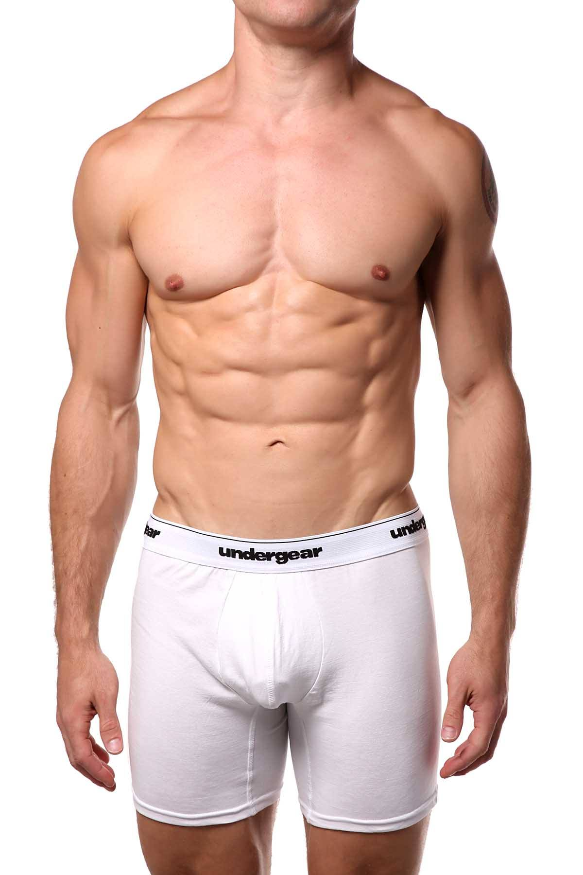 Undergear White Stitch Essential Boxer Brief