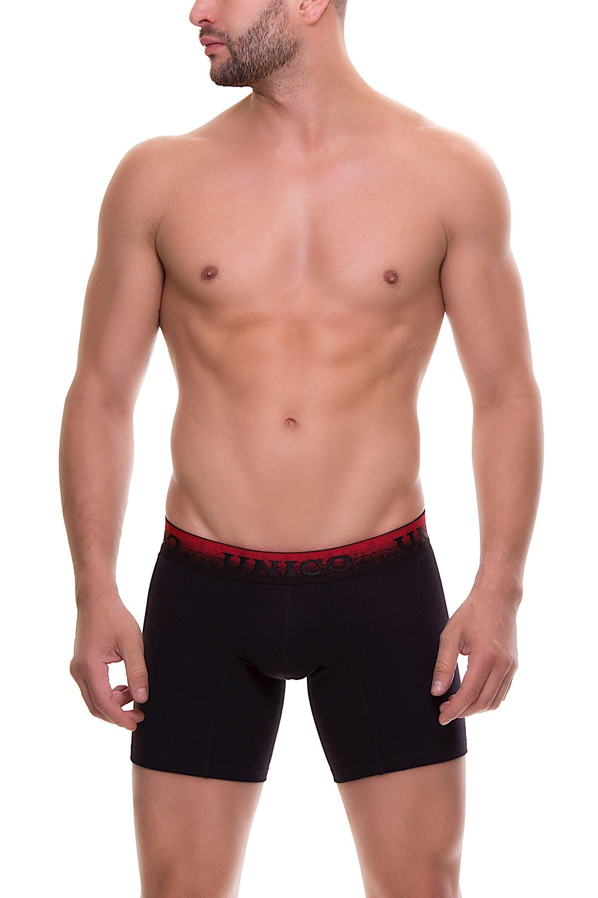 Unico Black/Red Spark Boxer Brief