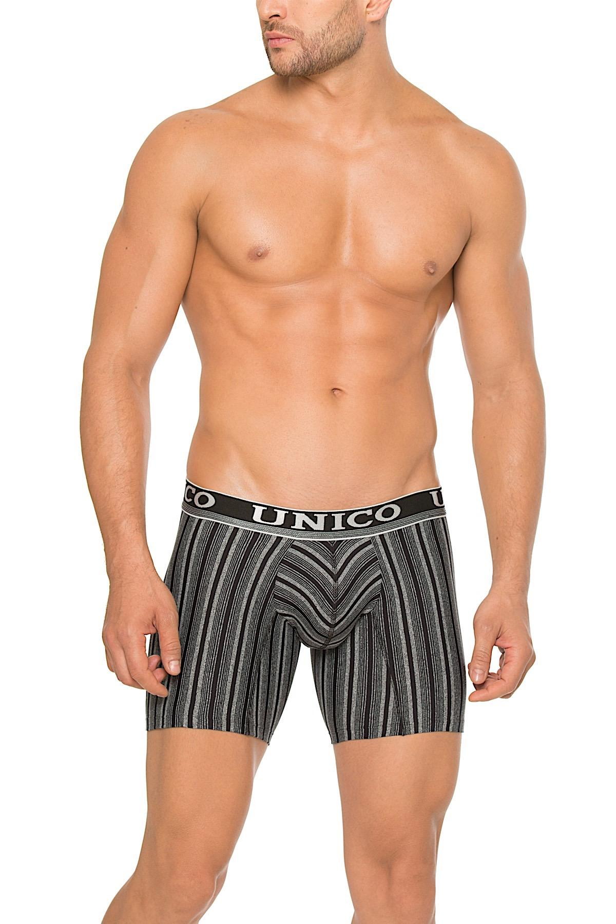Unico Gray/Black Polo Boxer Brief