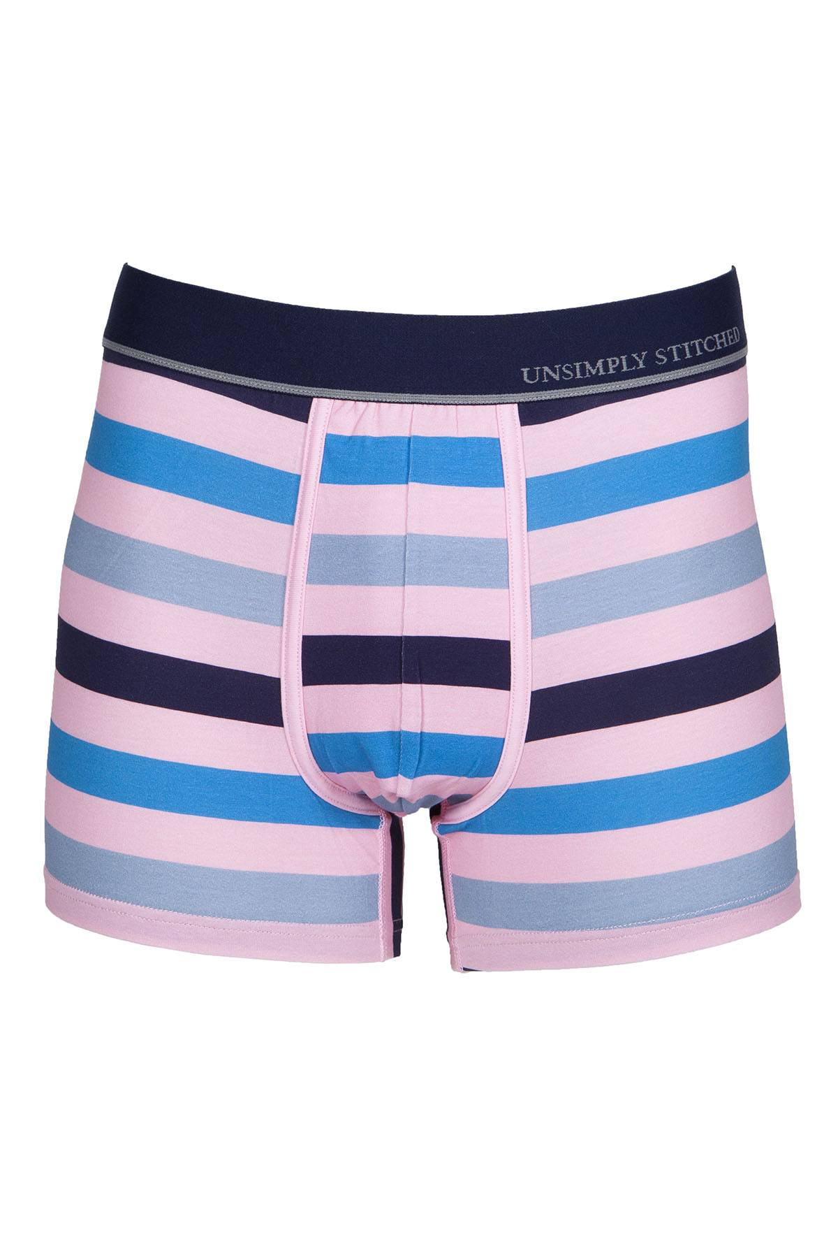 Unsimply Stitched Pink Colored Stripe Trunk
