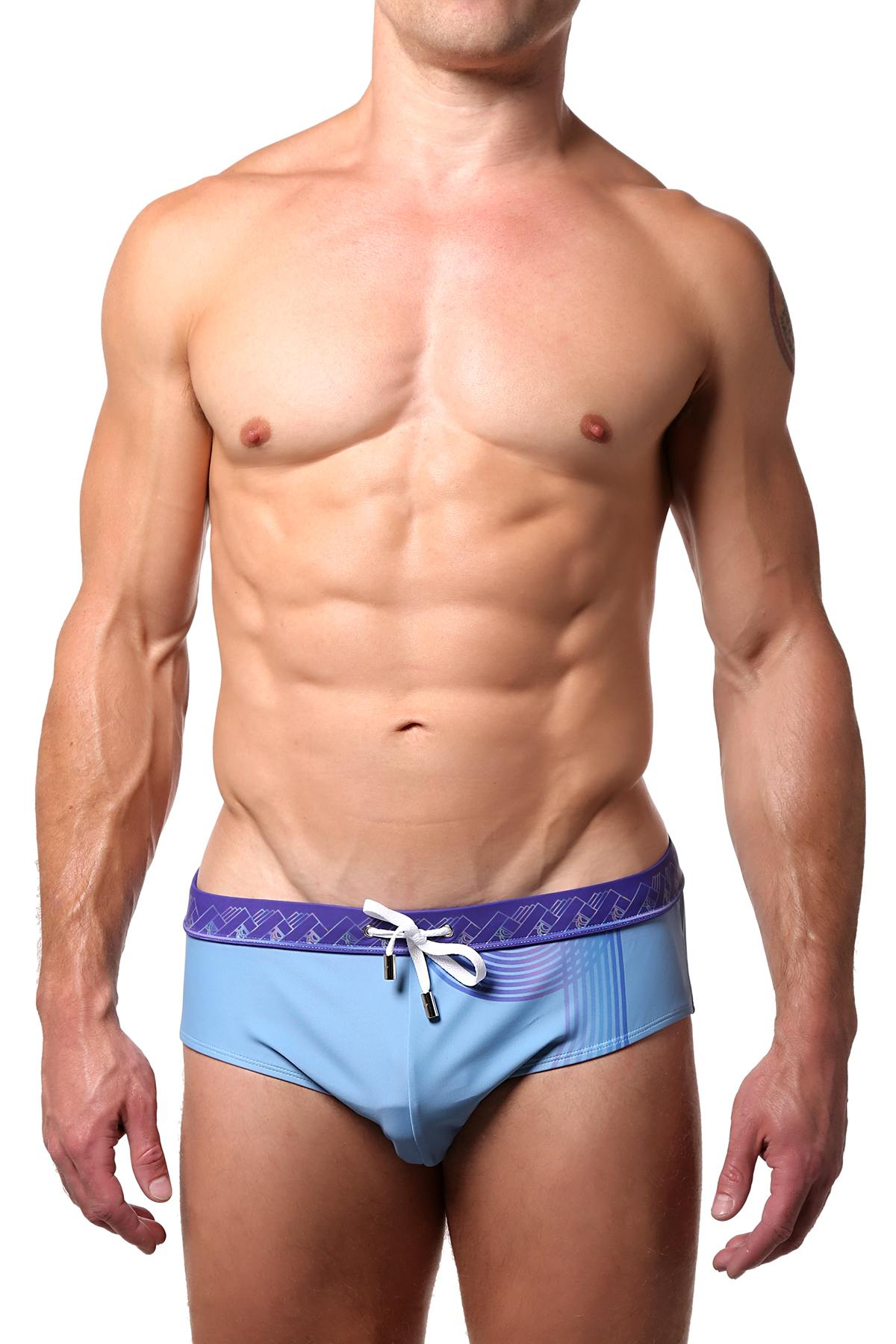 Vanwolff Sunset Tower Blue Swim Brief