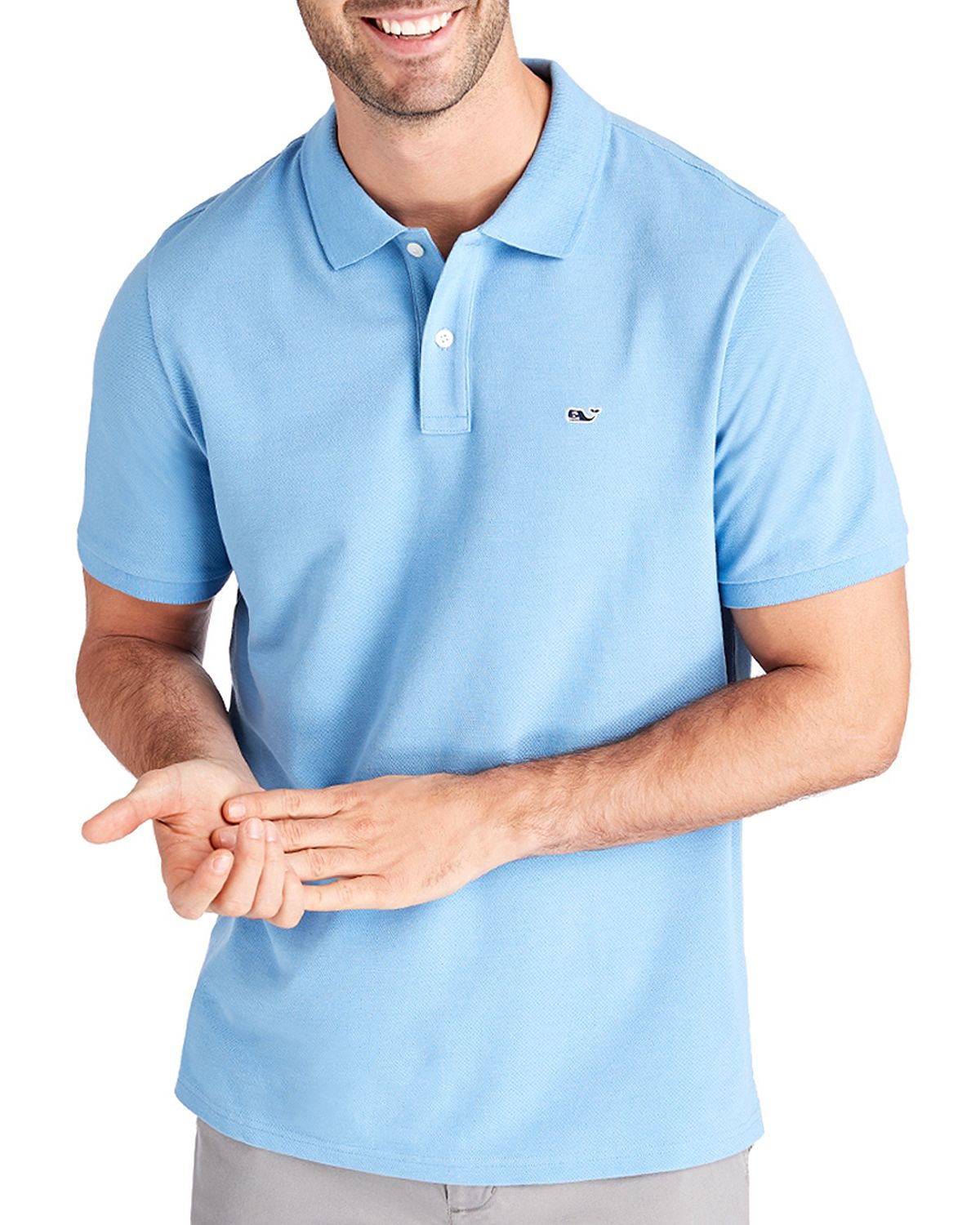 Vineyard Vines Stretch Piqu Classic Fit Polo Shirt Coastline