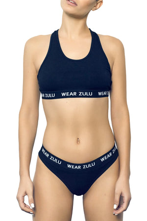 WEAR ZULU Black Bralette