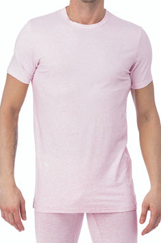 WOOD Pink Heather Crew Neck Undershirt