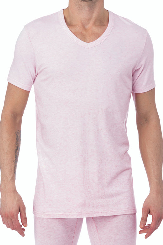 WOOD Pink Heather V-Neck Undershirt
