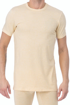WOOD Straw Yellow Crew Neck Undershirt