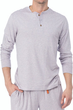 WOOD Violet Grey Long Sleeve Henley