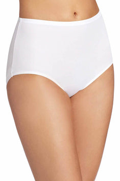 Warner's White No-Wedgies No-Worries Modern Brief Panty