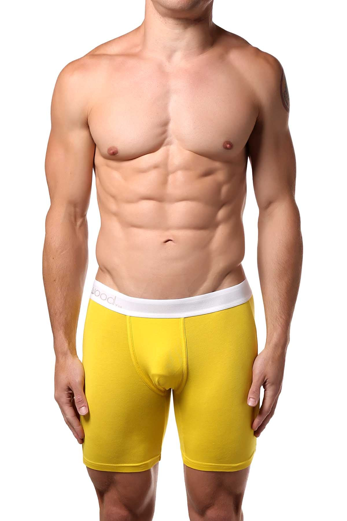 Wood Yellow Biker Brief
